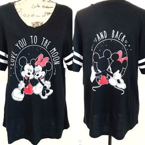 Disney Mickey & Minnie Mouse Tee Love You to Moon